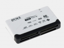 Считыватель Air Tone AT-CR02 [SD/MMC/CF/MS/XD/TF/M2/MicroSD] White+Black